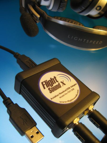 Flight Sound X Helicopter Adaptor for Real Headsets