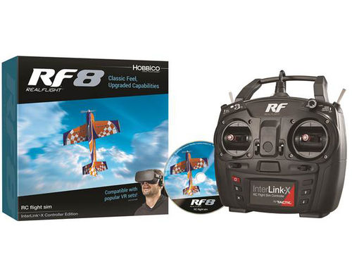RealFlight 8 with/InterLink-X Controller- Mode 2
